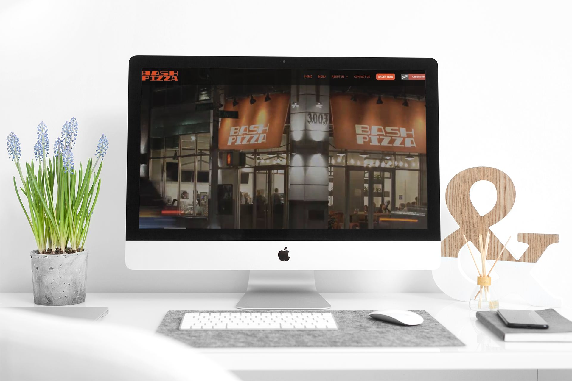 BASH PIZZA NY - Website for Restaurants in WordPress